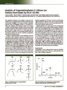 thumbnail of Analysis of Organophosphates in Lithium Ion Battery Electrolytes by HILIC-ESI-MS_iHILIC-Fusion(+)_HILICON_171205