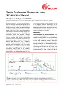 thumbnail of Effective Enrichment of Glycopeptides Using iSPE®-HILIC HILIC Material_HILICON_180407